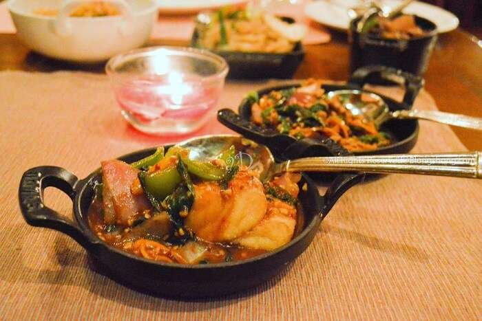seafood dishes served at baan thai
