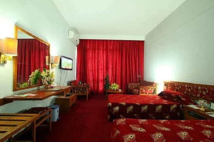 Centaur Lake View Hotel has classy interiors in rich colors