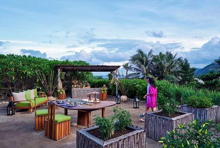Chilli table at Six Senses Con Dao resort in Vietnam