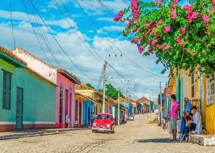 The vibrant streets of Trinidad Island in Cuba