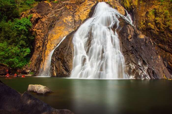 A beautiful snap of the Dudhsagar Waterfalls in Goa