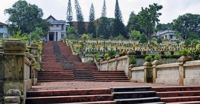 The innumerable steps leading to Hill Palace in Cochin