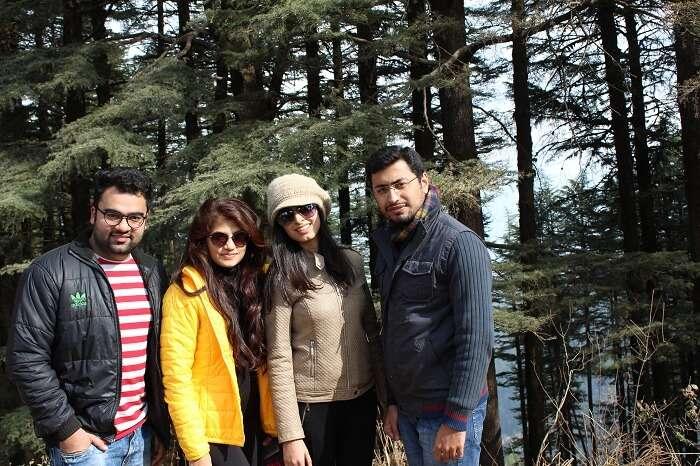 Aanchal with her friends in Kanatal