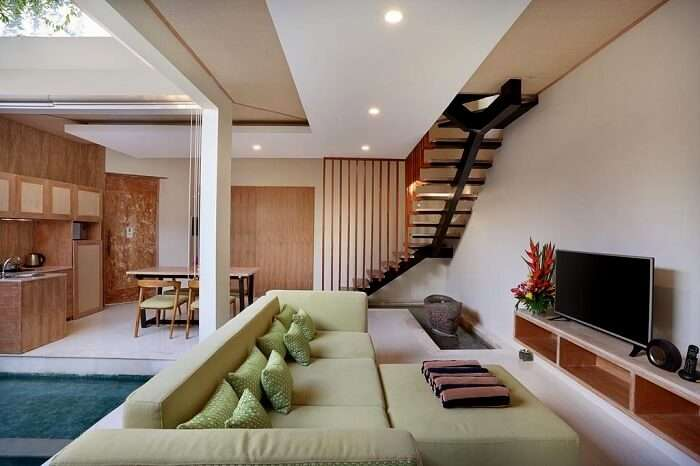 lounge area and modern facilities in ini vie villa