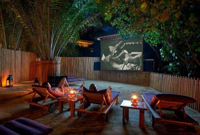 The jungle cinema at Six Senses Con Dao resort in Vietnam