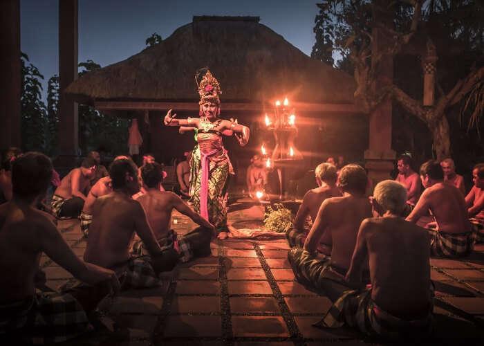 Traditional Kecak dance performance