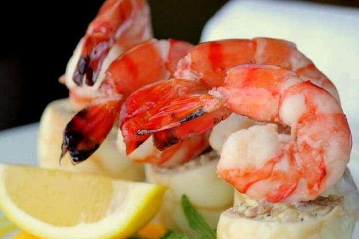 seafood served at la cucina
