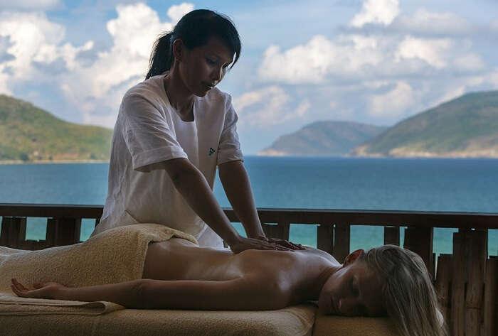 The massage therapies at Six Senses Con Dao resort in Vietnam