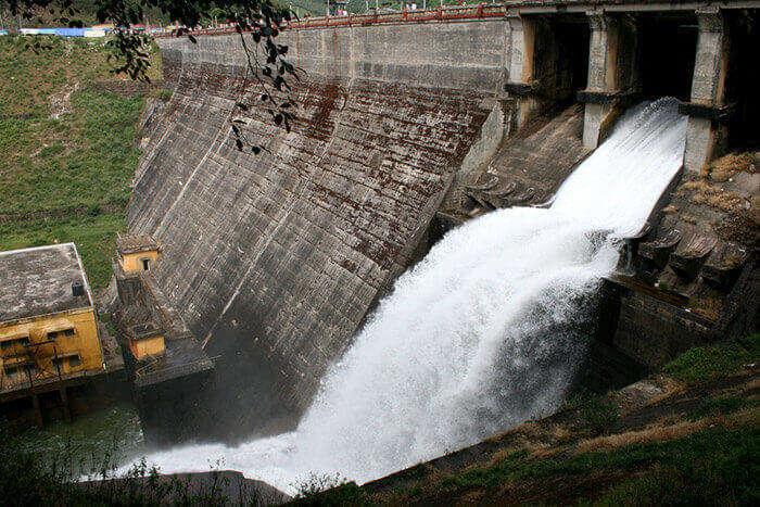 The Mattupetty Dam located on the Mattupetty Lake near Munnar