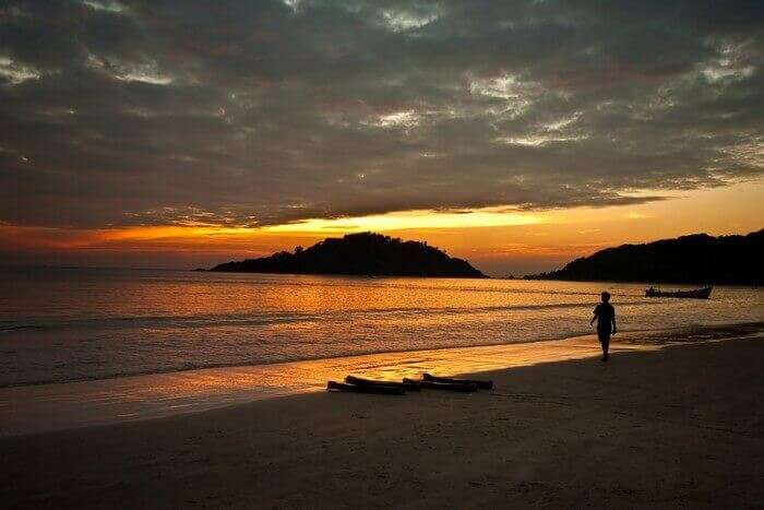 Mesmrising sunset at Palolem Beach