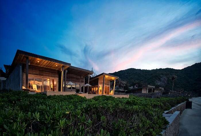 The ocean front pool villa at Six Senses Con Dao resort in Vietnam