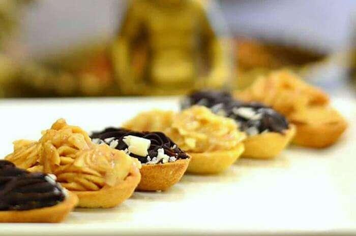 multi-flavoured tarts at paris cafe