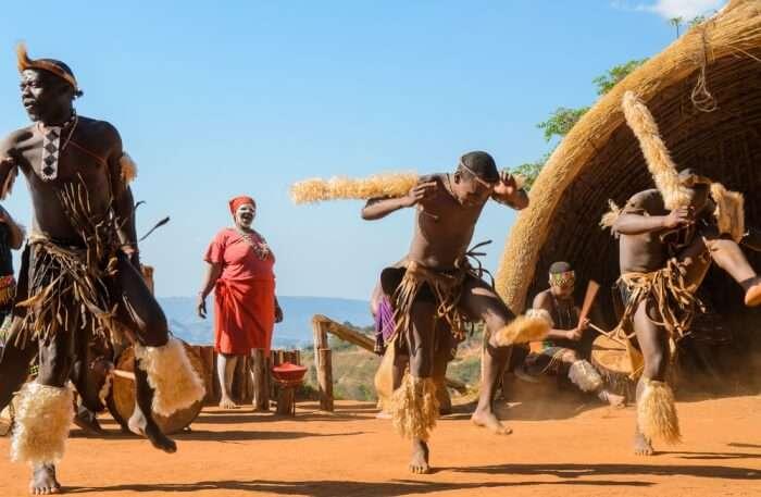 Safari and PheZulu Village people