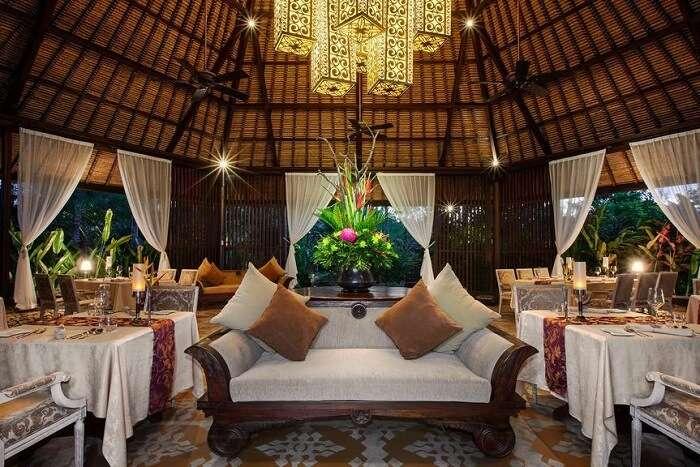 lavish restaurant in St. Regis Bali Resort