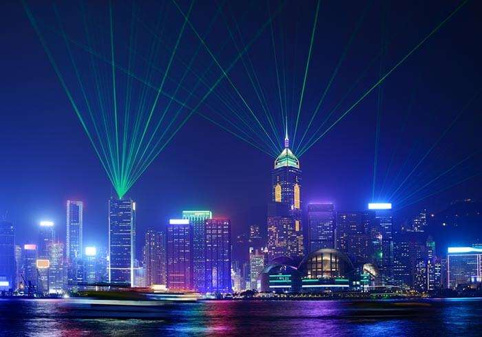 A mesmerising vista of Symphony of Lights, among the major places to see in Hong Kong