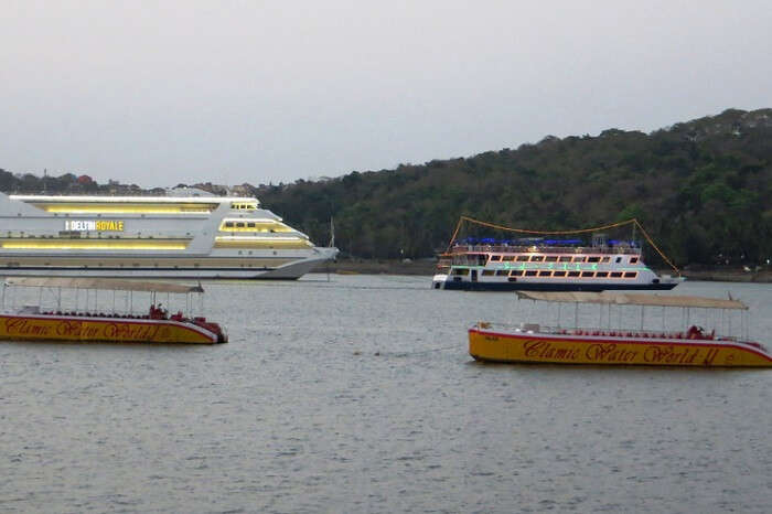 Take a romantic Mandovi River sunset cruise in Goa