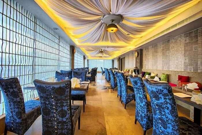 the plush seating arrangement and decor at tamara