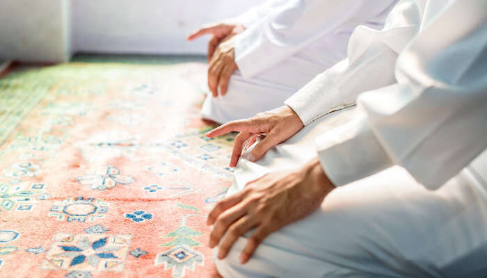 Muslim offering Prayer