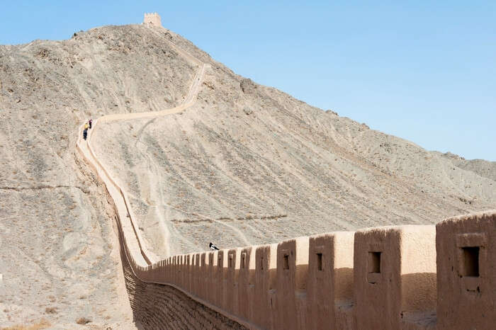 The Great Wall in Gansu province