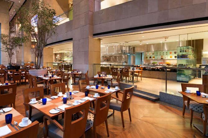 lavish seating arrangement at Waterside Cafe
