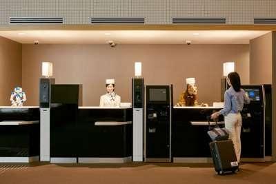 henn na hotel japan reception check in screen