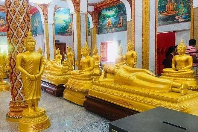 pooja thailand trip day 8 wat chalong buddha temple interior