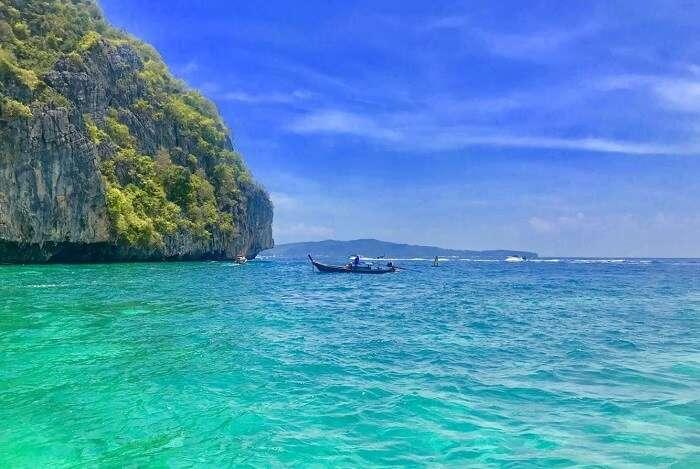 pooja thailand trip day 7 sea boat