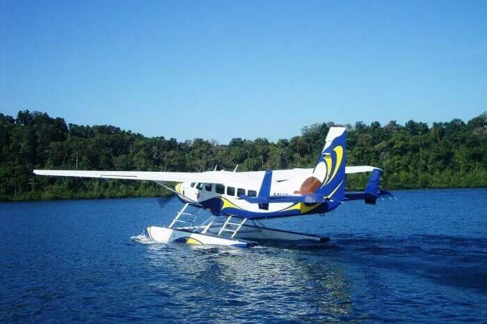 The seaplane by Pawan Hans in Andaman