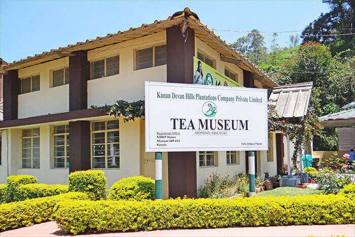 The Tata Tea Museum showing origin of the century old tea plantations in Munnar