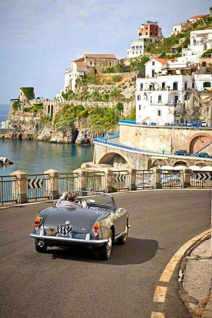 Guy Driving car- Italy
