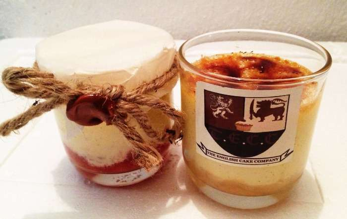 Glassed puddings and baked goodies at English Cake Company