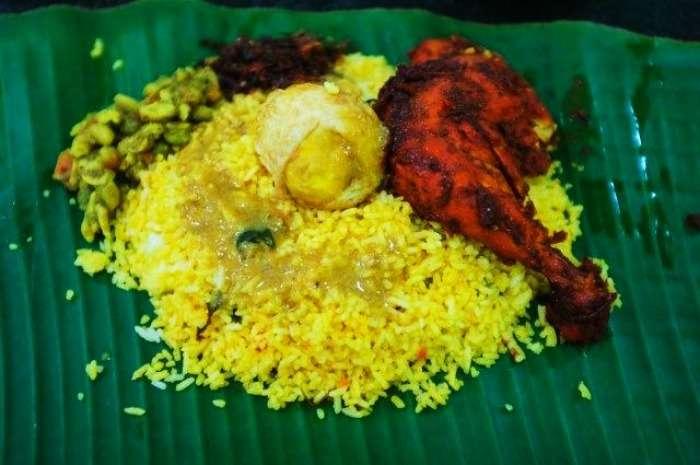 Chicken Biryani at New Banana Leaf, Colombo, Sri Lanka