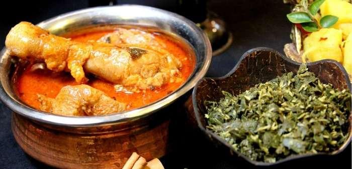 Devilled chicken curry at Rockview restaurant, Kandy, Sri Lanka