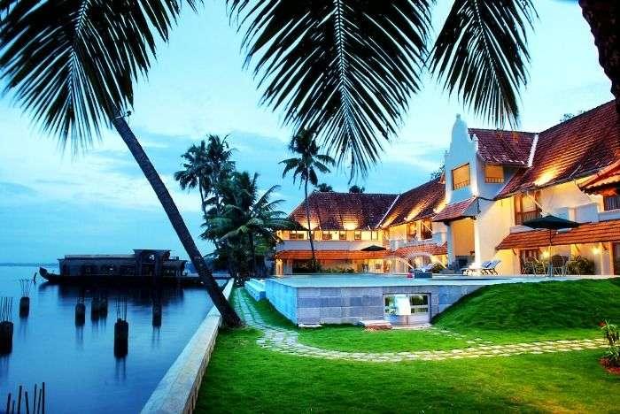 Magnificent lake view from Lemon Tree Vembanad Lake Resort, Kerala