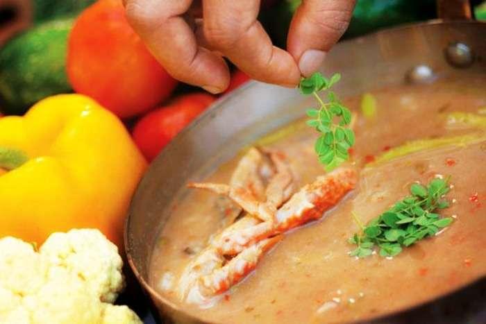 Odiyal Kool- A Jaffna dish at Palmyrah Restaurant, Colombo