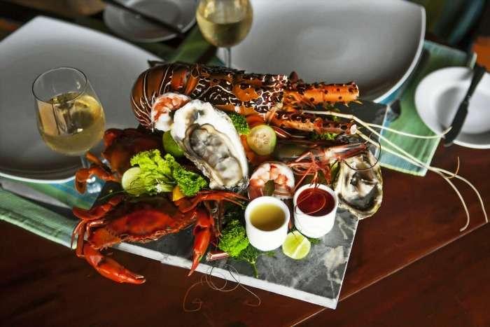 Traditional Seafood at Seafood Cove, Colombo, Sri Lanka