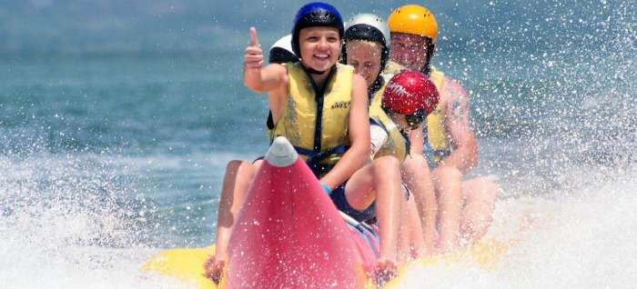 Banana Ride at Rajiv Gandhi Water Sports Complex