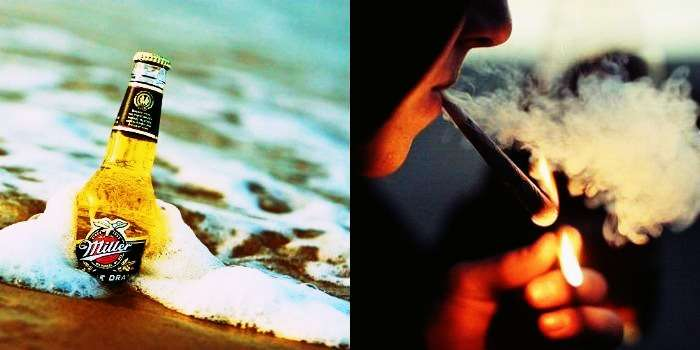 Alcohol and weed in goa and gokarna