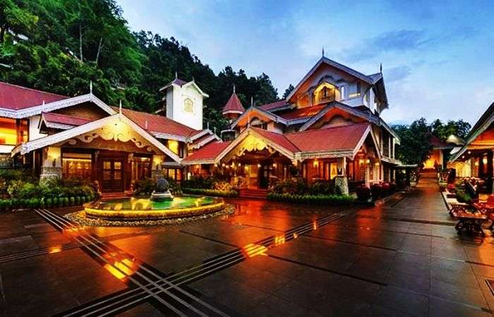 The surreal view of Mayfair Hotel, Gangtok