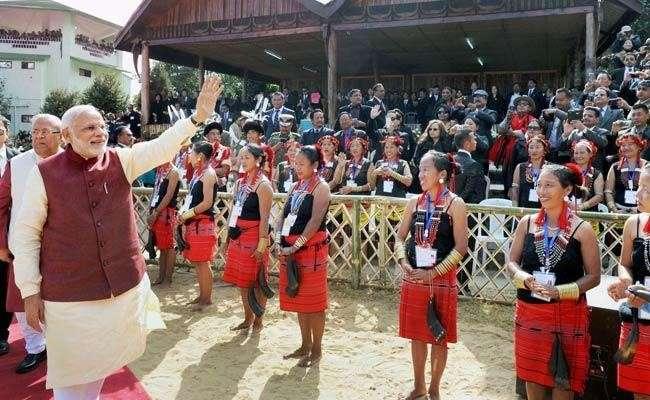 Narendra Modi at Hornbill Festival