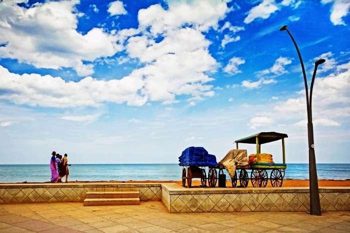 Promenade beach in Pondicherry near Bangalore