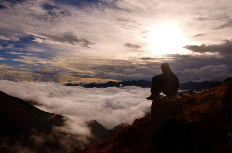 Sunset in Sikkim, Northeast India