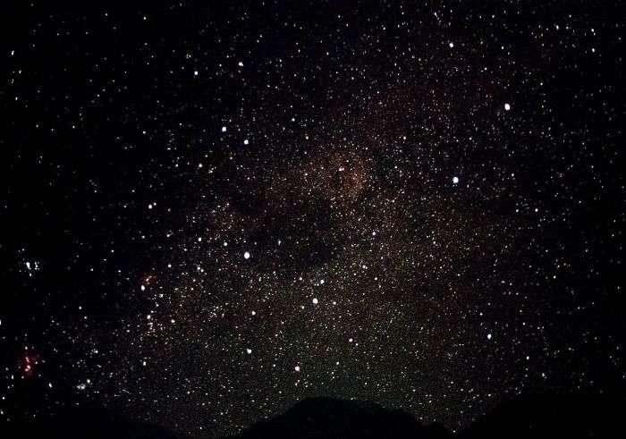Star filled sky in Shillong
