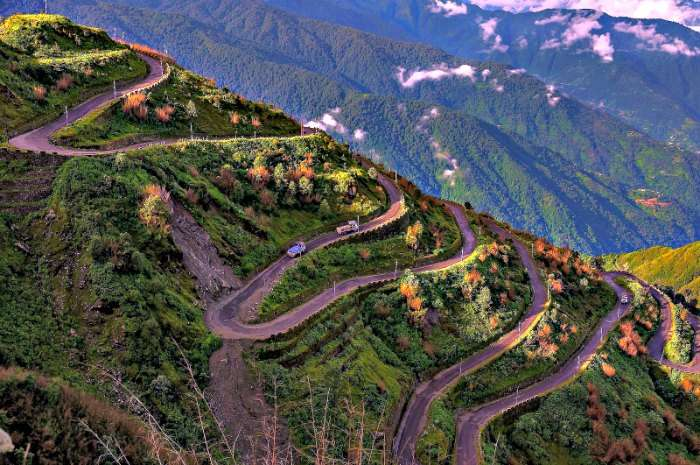 the famous silk route of india, Northeast India