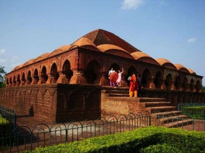 One of the terracotta temples in Bishnupur