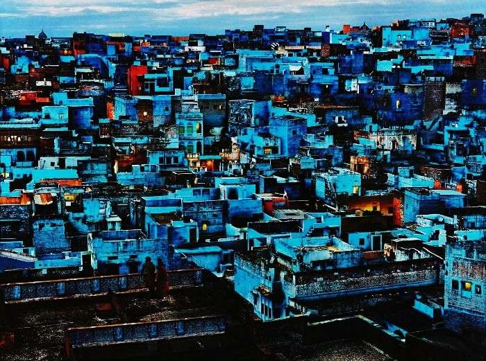 View of blue houses of Jodhpur City