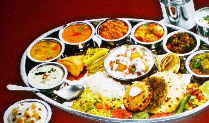 A view of the Rajasthani Thali
