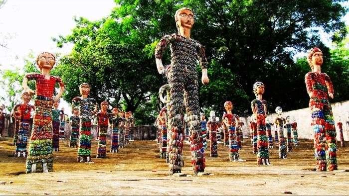 Sculptures in Rock Garden of Chandigarh