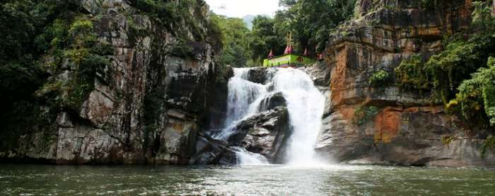 The beautiful Deokund Falls near Roopark Village