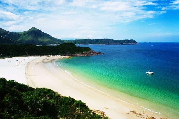 Tai Long Wan beach in Hong Kong in China